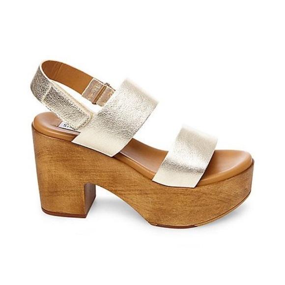 459fdb3015c Steve Madden gold marena platform sandals